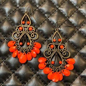 Free People Boho Bronzed Orange Chandler Earrings